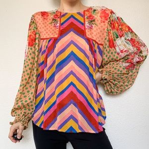 Anthropologie Blank London Eclectic Multicolor Top
